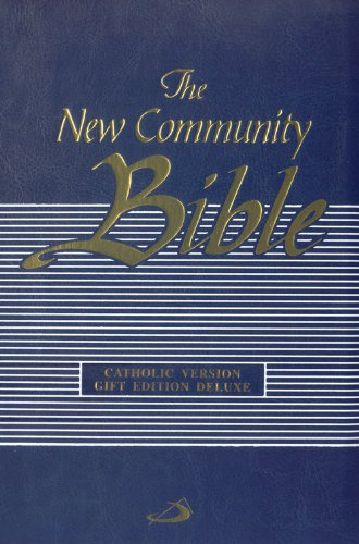 Deluxe Catholic Gift Bible - New Community Bible: Edition Deluxe with Zipper, Blue