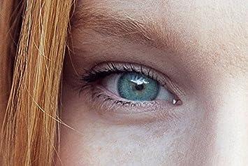 014ce1eef64038 Lentilles de couleur naturelle - Vert opaline - Sans correction - de la  marque MOOD-