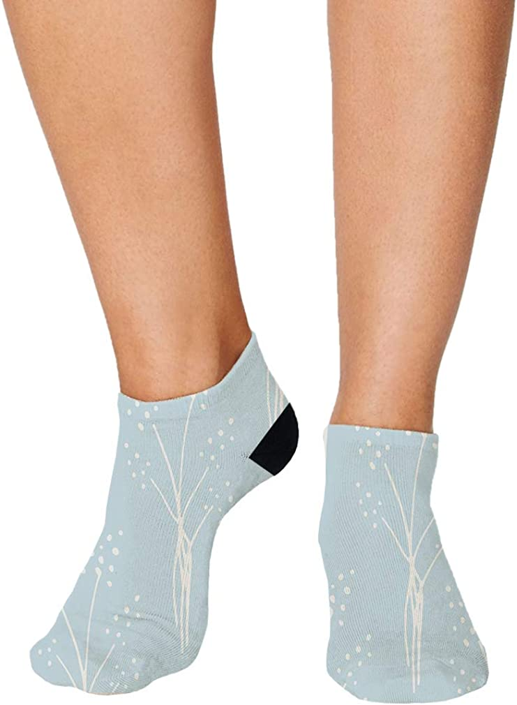 Blue And White Pitter Pattern #25 Men-Women Adult Ankle Socks Novelty Socks