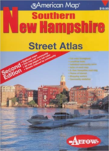 American Map Southern New Hampshire Street Atlas Arrow Map