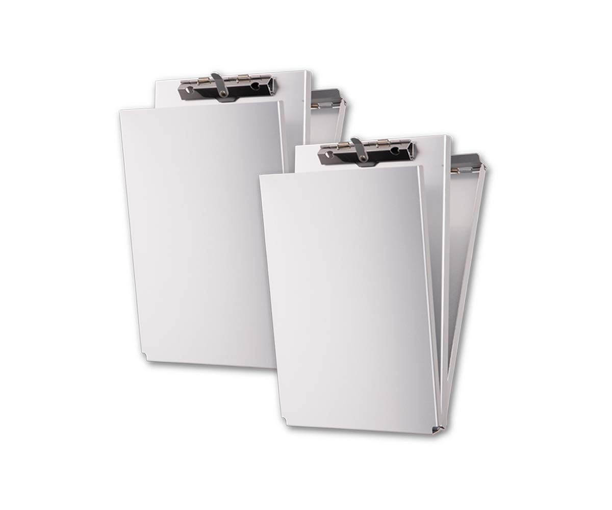 Summit Tools Dual Storage Aluminum Clipboard - 8.5 in. x 12 in. Letter Size Document Holder with Self Locking Latch, Form Clip, 2 Storage Compartment [2-Pack] by Summit Tools (Image #2)