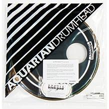 Aquarian Drumheads SKP18BK Super-Kick 1 Prepack 18-inch Bass Drum Head, gloss black