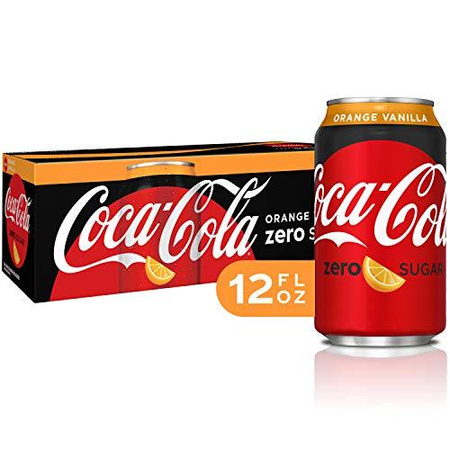 Coca-Cola Coke Orange Vanilla Zero Sugar Cola, 12 fl oz, 12 pack