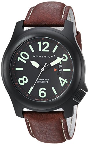 Men's Sports Watch |Steelix Nylon Adventure Watch by Momentum | IP Black Stainless Steel Watches for Men | Analog Watch with Japanese Movement | Water Resistant(200M/660FT)Classic Watch - Black / 1M-SP84B2C
