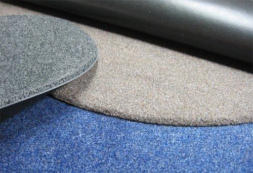Deko-Matten-Shop Fußmatte Olefin, Schmutzfangmatte, rund, 90 90 90 cm Durchmesser, grün, in 15 Größen und 5 Farben B075ZR7TFF Fumatten acba43