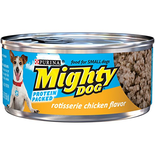 Purina Mighty Dog Wet Dog Food, Rotisserie Chicken Flavor, 5.5-Ounce Can, Pack of 24