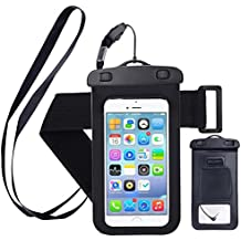 Yomole oki98i Waterproof Case, Cell Phone Universal Dry Bag Pouch with Headphone Jack for Apple iPhone 7 / 6 Plus/Samsung S8 etc. Smartphone Devices, Black