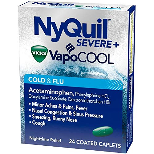 Vicks NyQuil Severe Cold & Flu Caplets - 24 ct, Pack of -