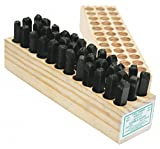 Young Bros 07362 36 Piece Hand Cut Stamp Combination Letter and Figure Set, Steel, 5/16