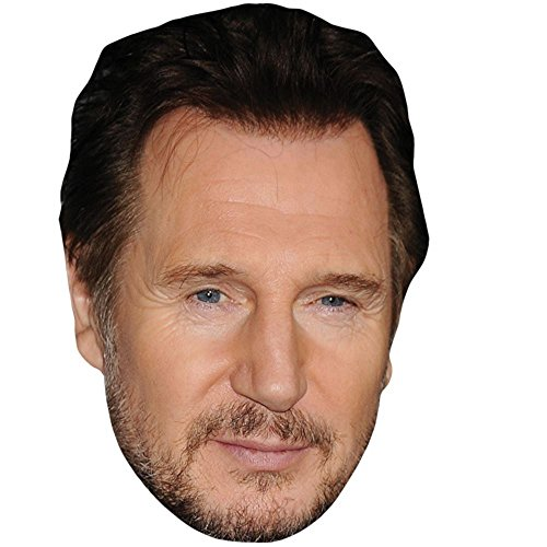 Liam Neeson Celebrity Mask, Card Face and Fancy Dress (Hannibal A Team Costume)