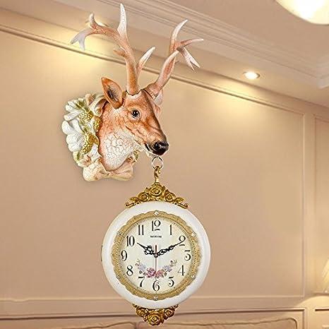HUANGYAHUI Despertador Reloj De Pared Sala Relojes Decorativos De Pared Gran Silencio En La Tabla De 20 Pulgadas (50,5 Cm) De Diámetro ,9919: Amazon.es: ...