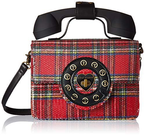 Betsey Johnson Answer Me Phone Bag,  red, One Size (Betsey Johnson Handbags Red)