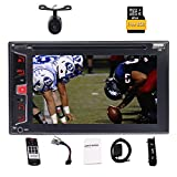 Eincar 6.2'' Inch Double 2 DIN Touchscreen In-Dash Bluetooth Car Stereo with GPS Navigation Mp3 Audio 1080P Video Player DVD/CD/SD/FM/AM/RDS Radio/TF/USB/AUX-in/Rear View Camera + Remote Control