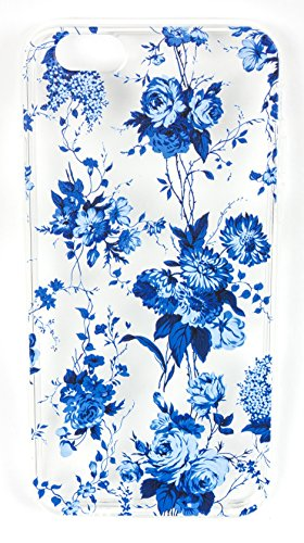 Samsung Galaxy J7 Case, YogaCase InTrends Back Protective Cover (Blue Flowers)