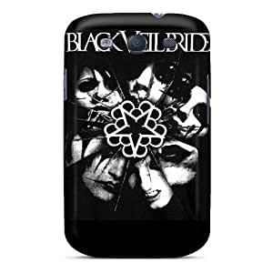 Shockproof Cell-phone Hard Covers For Samsung Galaxy S3 With Unique Design High Resolution Black Veil Brides Skin TimeaJoyce