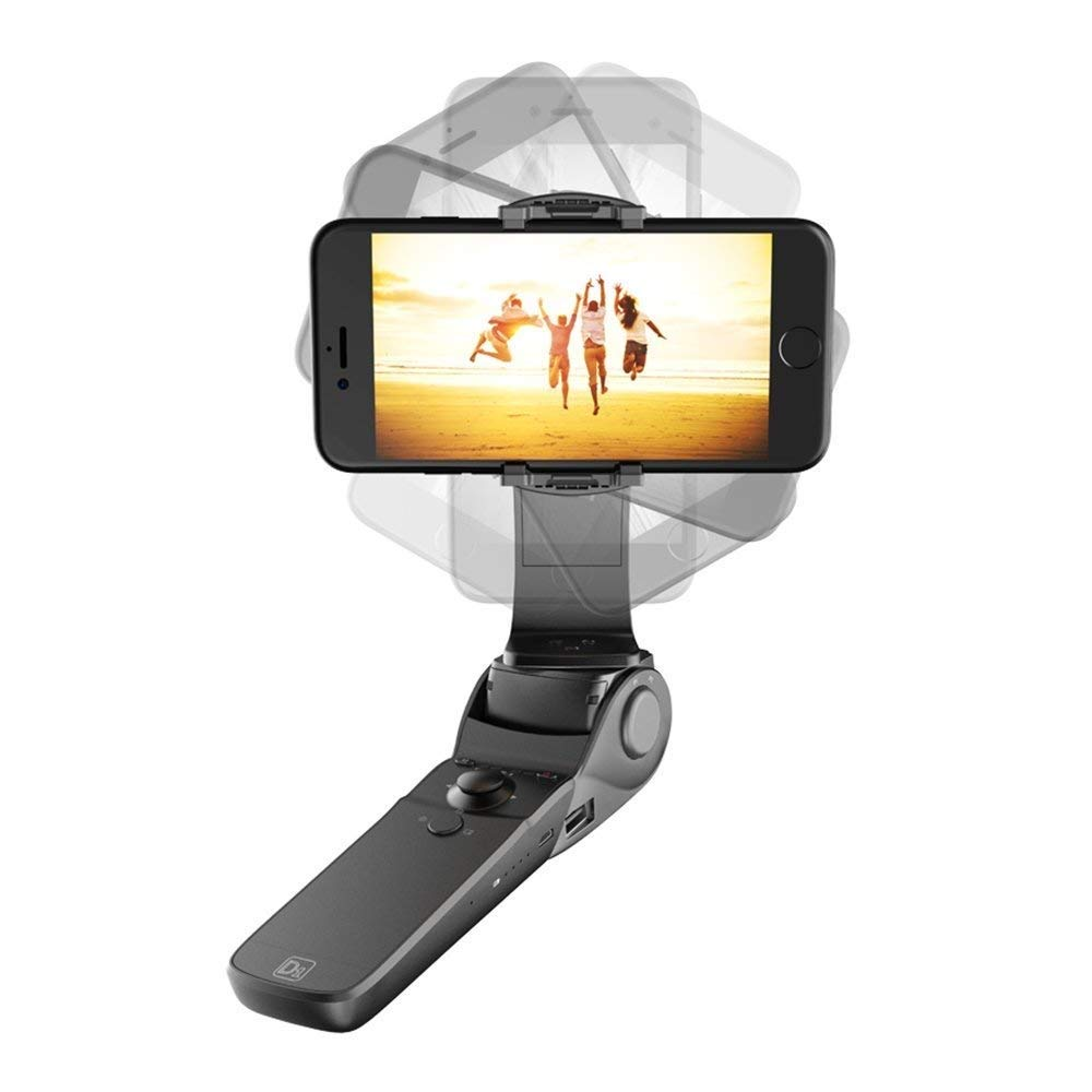 Hohem D1 Handheld Gimbal Stabilizer Folding Design / Charging Function / Face tracking / Panorama for iphone 7plus/6S plus/6 plus Android Smartphones Bluetooth Control (D1)