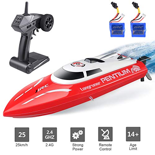 Remote Control Boat, Longruner RC Boats for Kids & Adults 2.4Ghz 25km/H - Best Toys For Kids Lake
