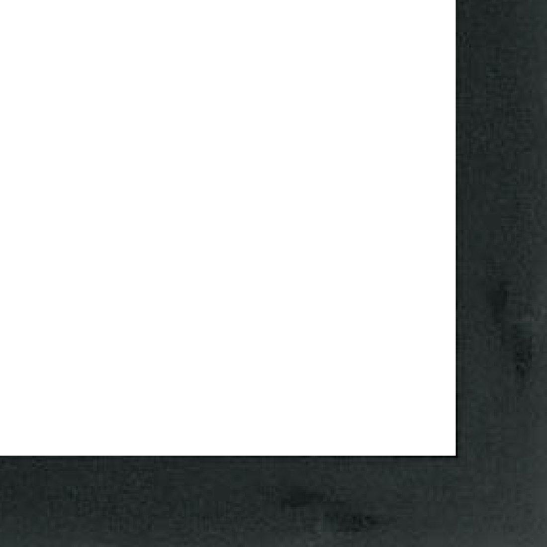 Picture Frame Moulding (Wood) 18ft bundle - Contemporary Black Finish - 0.75'' width - 5/16'' rabbet depth