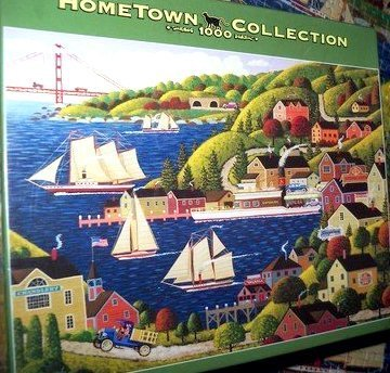 Hometown Collection Jigsaw Puzzle: Sausalito Water Front by Mega Brands