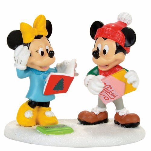 Department 56 Disney Village Mickey Minne Card Exchange Accessory Figurine
