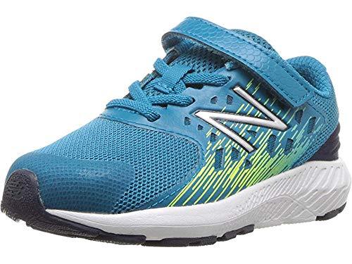 New Balance Boys' Urge V2 FuelCore Running Shoe, Ozone Blue/hi lite, 8 XW US Toddler