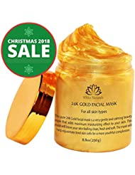 HOLIDAYS SALE! 24K Gold Facial Mask By White Naturals:Rejuvenating Anti-Aging Face Mask For Flawless Skin –Reduces Fine Lines, Clears Acne,Minimizes Pores,Moisturizes &Firms Up Your Facial Skin 8.8 oz