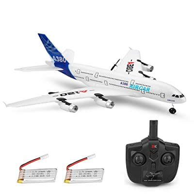 RC Airplanes 3CH 2.4Ghz 510mm Wingspan Glider DIY EPP Assemble Remote Control Airplane Toy Built-in 6-Axis Gyro A120-A380 Beginner Remote Control Plane with 2pack Battery: Toys & Games