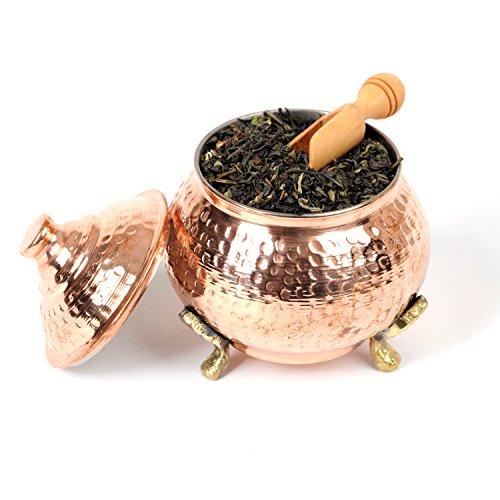 BeldiNest Handmade Hand Hammered Copper Round Sugar Bowl Medium Size