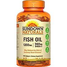 Sundown Naturals Fish Oil Extra Strength 1200 mg, 100 Softgels
