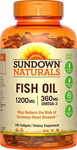 Sundown Naturals Fish Oil, 1200 mg, Omega-3 Extra Strength,