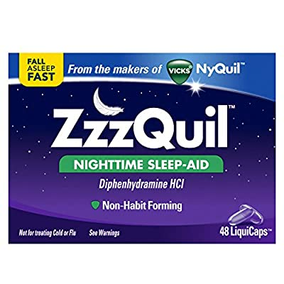 ZzzQuil Nighttime Sleep Aid LiquiCaps by Vicks, 48 ct