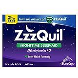 ZzzQuil Nighttime Sleep Aid, Diphenhydramine HCl,  48 Liquicaps