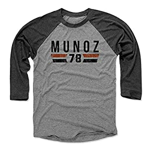 500 LEVEL's Anthony Munoz Baseball Shirt - Vintage Cincinnati Football Fan Gear - Anthony Munoz Font