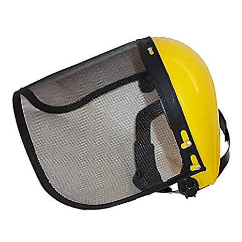(B Blesiya Face Shield with Steel Full Mesh Visor Protector for Strimmer Trimmer Brushcutter User)
