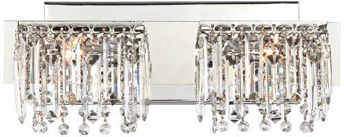 Possini Euro Design Hanging Crystal 16 1/2'' Wide Bath Light by Possini Euro Design
