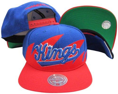 (Sacramento Kings Mitchell & Ness Snapback Adjustable Plastic Snap Back Hat/Cap)