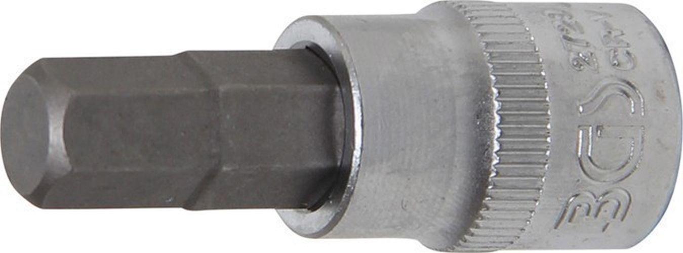 Innen-6-kant 3//8 Zoll x 48 mm 3//8 Zoll 10 mm BGS Bit-Einsatz 2729