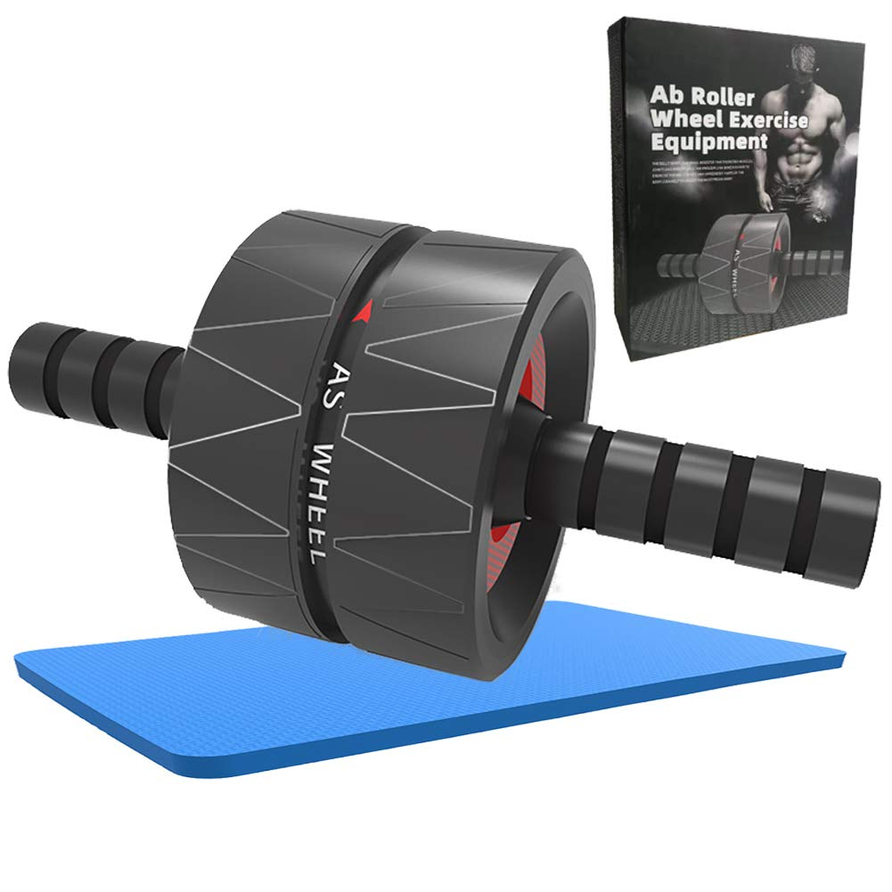 lovingsky Ab Roller Wheel with Knee Pad, Abdominal Workout Equipment Exercise, Home Abdominal Exercise Equipment