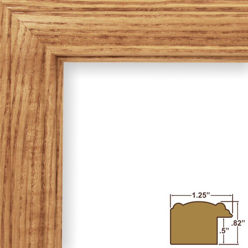 Craig Frames 59504100 10 by 14-Inch Picture Frame, Wood Grain Finish, 1.25-Inch Wide, Honey Oak