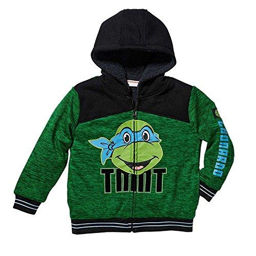 Character Boys' Plush Hoodie (5, Leonardo)