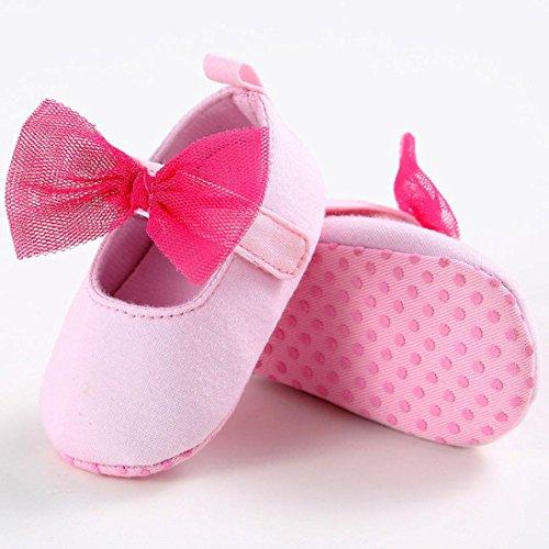Tefamore primeros pasos bebes zapatos de antideslizante de sole suave de moda invierno de calentar Rojo