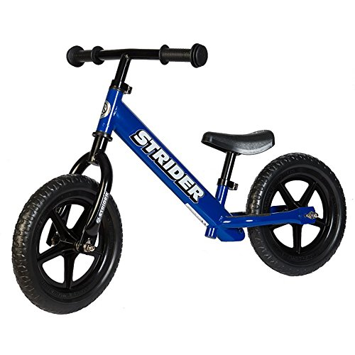 Strider - 12 Classic Balance Bike, Ages 18 Months to 3 Years, Blue