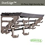 StorEdge 15 Piece Heavy Duty Storage System for Organizing Garage Workshop and Gardening Tools 9 High Density Hooks and Super Duty Shelf with Mighty Bracket Space Saver Made in USA