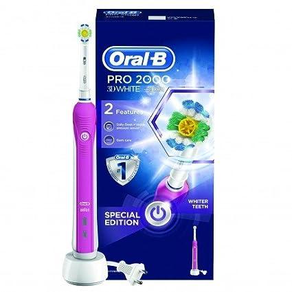 Oral-B Pro 2000 3D White - Cepillo de dientes eléctrico, color rosa