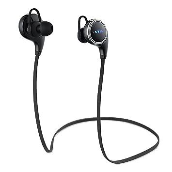 Auriculares Bluetooth 4.1, VTIN inalámbrico con estereo sonido para Deporte/Correr y llamadas manos libres con micrófono para Huawei, Xiaomi, ...