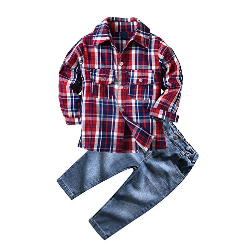Infant 5t Boys Outfit Kids Preemie Clothes Toddler Formal Outfit boy Winter Newborn boy Cloth (2T, Red)
