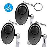 Bekhic 3Pack (Upgraded Version) Personal Alarm for Women 140DB Emergency Self-Defense Security Alarm Keychain with LED Light for Women Kids and Elders (3V)