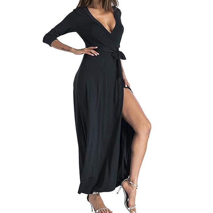 Fiesta Vestir Ropa Falda Mujer ,BBestseller Mujer Vestido Blusa de Solapa Casual para Mujer Vestido