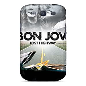 KevinCormack Samsung Galaxy S3 Scratch Resistant Hard Phone Covers Provide Private Custom Trendy Bon Jovi Band Skin [xiC15930SWns]