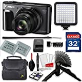 Canon PowerShot SX720 HS 20.3MP 40X Optical Zoom Digital Camera Video Creator Kit (Black)+ 32GB High Speed Memory Card + Steady Grip + LED Video Light + Extra Battery + Professional Accessory Bundle
